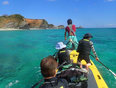 無人島へ行こう!メガサップ&シュノーケリング体験