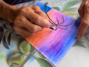 お絵描き体験